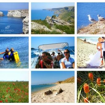 Крым мыс Тарханкут отдых у моря снять жилье Марьино